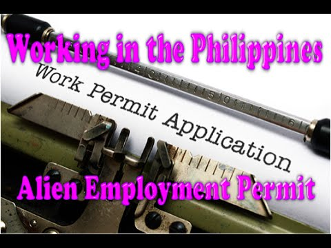 Foreigner working in the Philippines, The Alien Employment Permit or AEP