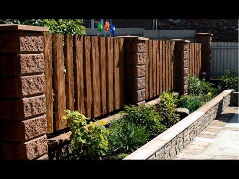Simple wood fence
