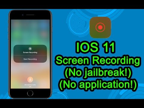 NEW IOS 11 Built-in screen recording without application and with sound