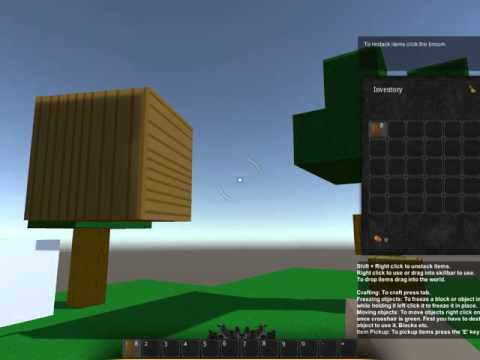 Pixgen Update #4 ( Crafting, Oak blocks/Planks, Object Description!)