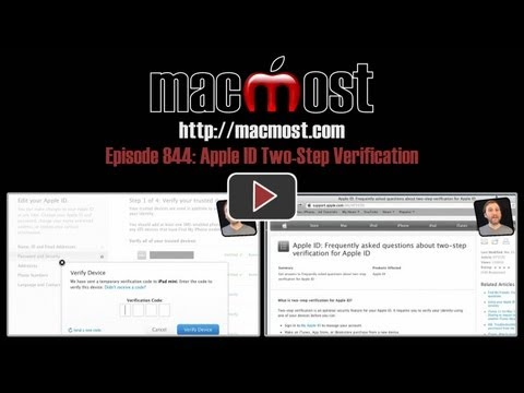 Apple ID Two-Step Verification (MacMost Now 844)