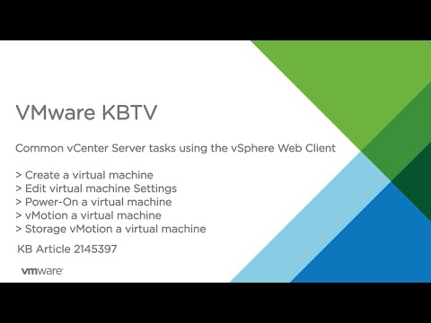Common vCenter Server tasks in the vSphere Web Client - Part 2
