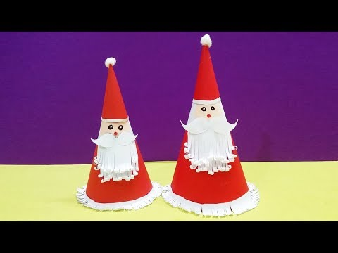 How to Make Santa Claus Hat with Paper | Santa Claus hat | Christmas Gifts | Crafts Now