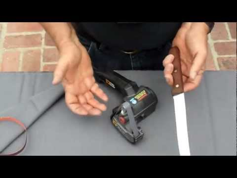Serrated Knife Sharpening using the Work Sharp Knife Sharpener