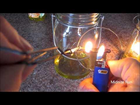 Olive Oil Lamp adjustable wick insert