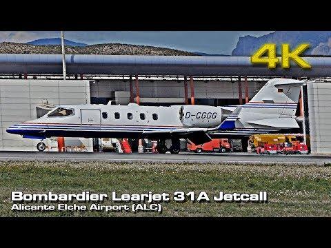 Bombardier Learjet 31A [4K] Rocket Takeoff! (D-CGGG) Alicante