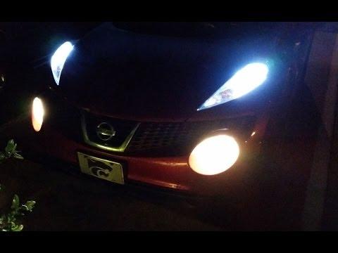 Replace Nissan Juke Front Alligator Eye Lights - LEDs