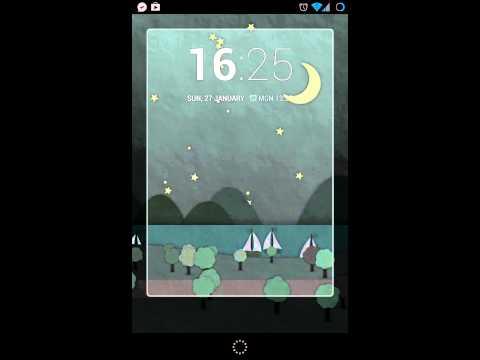 Chronus widget and lock screen in cyanogenmod 10.1