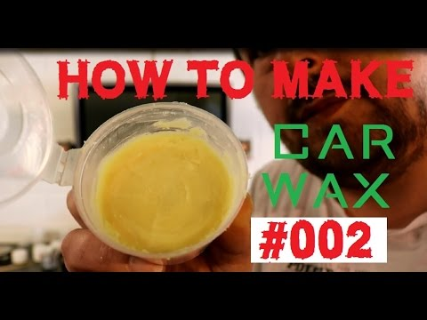 homebrew car wax - how to make a car wax Part 2