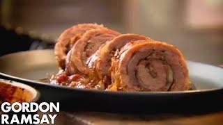 Slow Cooked Braised Stuffed Lamb Breast Gordon Ramsay