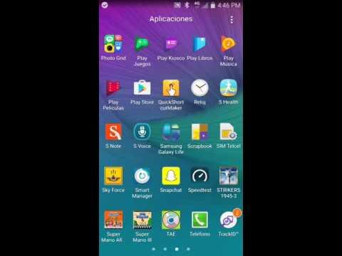 Galaxy Note 4 Screenshot Captura de Pantalla