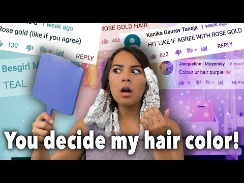 My Subscribers Pick My Hair Color (I hate it!)