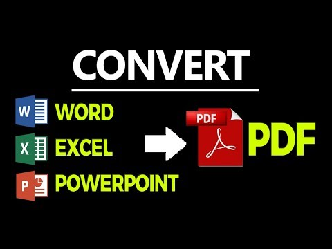How to Convert Microsoft Word, Excel and Powerpoint 2007 Files to PDF