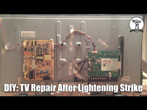 DIY: TV Repair After Lightening Strike LED LCD 4K Flat Screen
