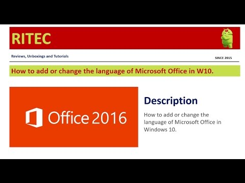 Hot to add or Change Office language in Windows 10