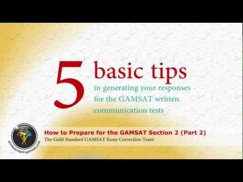 GAMSAT Preparation for Section 2 - Gold Standard Essay Writing (part 2)