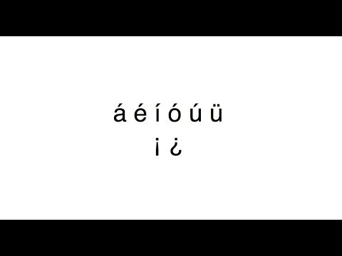 How to type Spanish accents on a Mac (¿ ¡ á é í ó ú ü)
