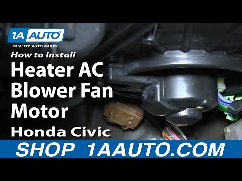 How To Install Replace Heater AC Blower Fan Motor 1992-97 Honda Civic