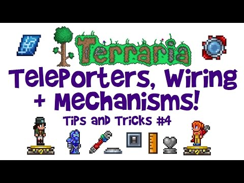 EASY Terraria Teleporter Guide, Wiring Tutorial & Mechanisms! (Tips & Tricks, 1.3 + console/mobile)