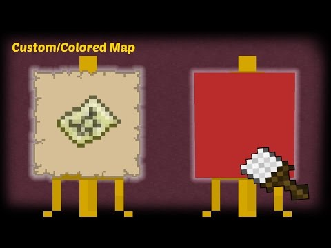 Minecraft - How to make a Custom / Colored Map