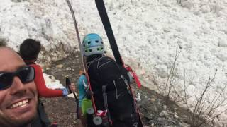 Mountaineers Capture Spectacular Avalanche in Canada