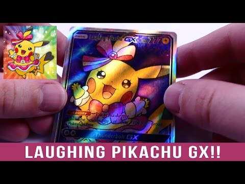 Unboxing a Laughing Pikachu GX CUSTOM CARD!!