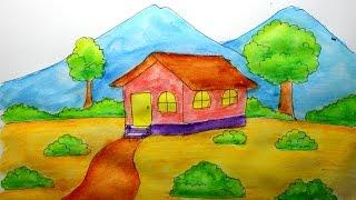 9200 Gambar Pemandangan Rumah Dan Gunung HD