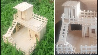 Download How to build a POPSICLE STICK HOUSE Video