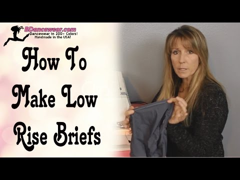 How To Make Low Rise Briefs