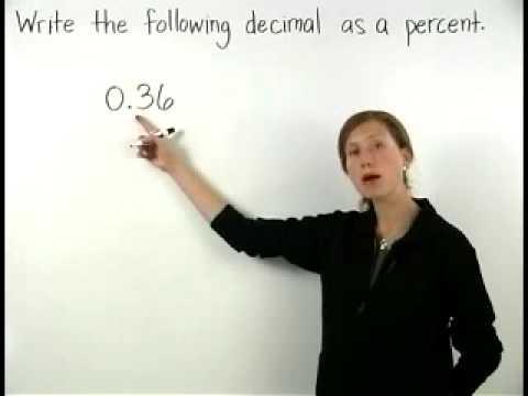 Decimal to Percent - MathHelp.com - Math Help