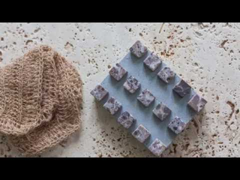 Cement and mosaic soap dish