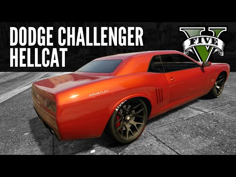 Bravado Gauntlet: Dodge Challenger Hellcat build [GTA5 PS4]