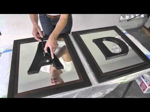 DIY Divas - Mirrored Frames w/ Monogram Letters