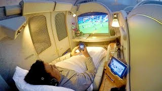 Watching World Cup LIVE on Emirates FIRST CLASS!