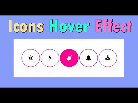 Icons hover effect using html and css