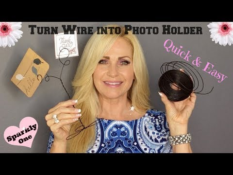 How to Make a Wire Photo Holder 💌 Note Cards, too!