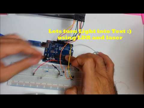 Morse Code transmitter and receiver  using Arduino and Unity3D