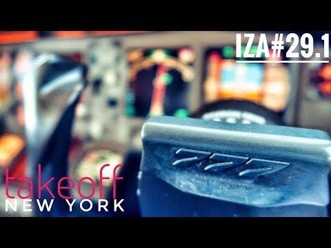 IZA#29.1 - B777 TakeOff New York Cockpitview