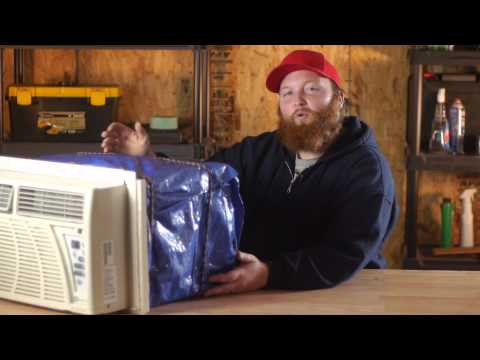 How to Cover an Air Conditioner With a Tarp : Window Air Conditioners