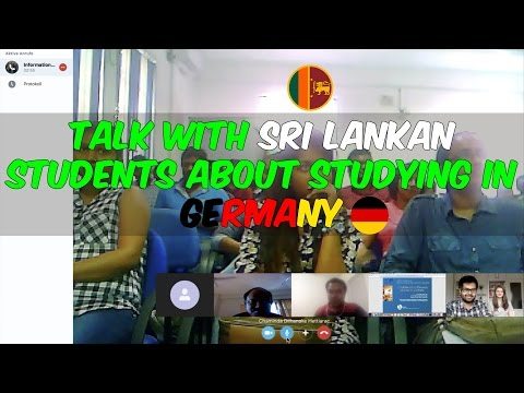 Talk with Sri Lankan students about studying in Germany