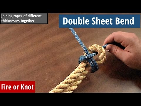 Knot Instruction - Double Sheet Bend - Tying ropes of different sizes together