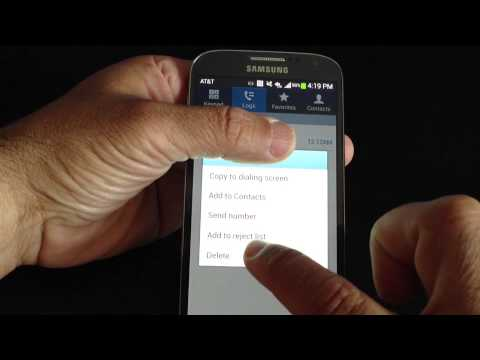 Samsung Galaxy S4 Tip 14: How to setup call reject