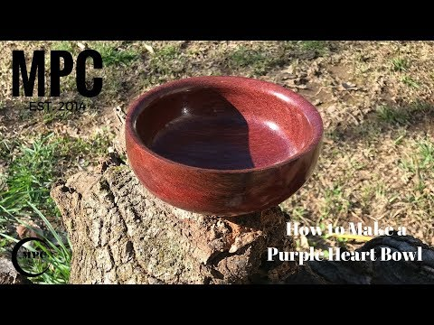 How to make a small Purple Heart Bowl