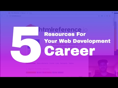 5 resources to start you web developer career