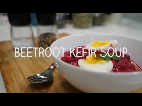 #Premium kefir taste - A cold Beetroot Kefirsoup with active milk kefir