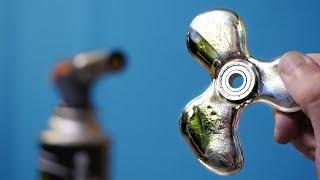 EXPERIMENT Gallium Fidget Spinner VS Gas Torch