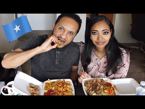 Xxx Mp4 Trying Somali Food For The First Time Mukbang Amena And Elias 3gp Sex