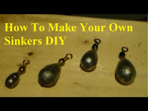 How To Make Sinkers For Fishing  DIY!!