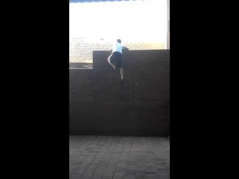 SCParkour 10 foot wall climb