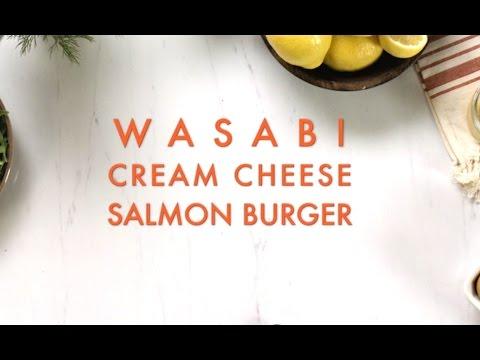 Wasabi Cream Cheese Salmon Burgers - FIXATE™